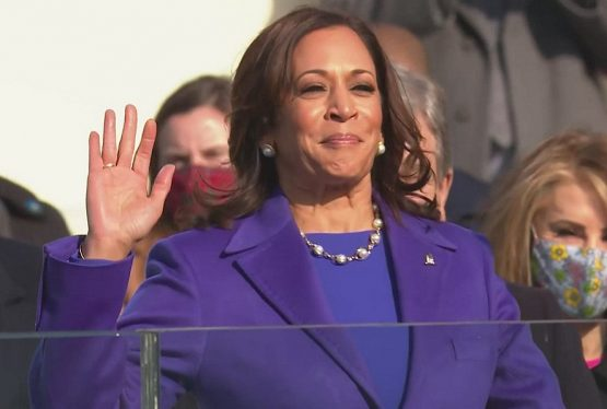 Kamala Harris sworn in as vice president. Photo: WFAA-TV Vice President Kamala Harris took the oath of office in a historic ceremony Wednesday, becoming the first woman, first Black American and first South Asian American to hold the office. The daughter of an Indian mother and a Jamaican father, Harris was sworn in by U.S. […]